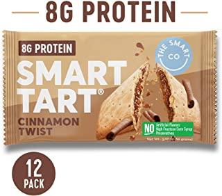 Smart Tart Protein Toaster Pastries | 8g Protein Breakfast Snack | Low Net Carb Low Sugar Baked Pastry | All Natural No Artificial Flavors | Cinnamon Twist, 12 Count Box