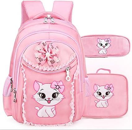 School Bags For Girls Sweet Cute Cartoon Princess Cat Children Backpack Kids Bag