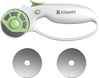 Xinart 45mm Rotary Cutter for Fabric Safety Lock Ergonomic Classic Comfort Loop Fabric Small Rotary Cutter for Sewing Quil...