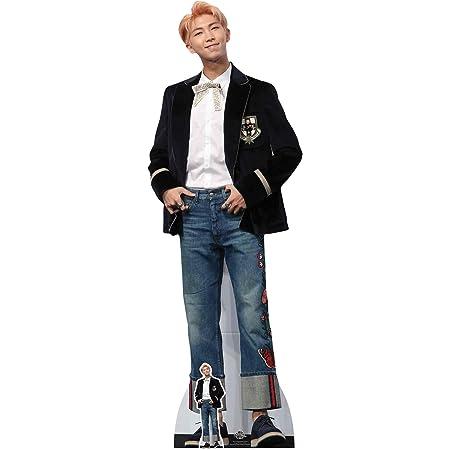STAR CUTOUTS CS783 Cut joo Kim NAM-Joon Lifesize Cartón aka RM Rap Monster Bangtan Boys Cute Blue Jeans (Kpop Standee) 180 cm de alto con mini recorte gratis, multicolor