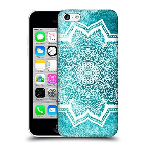 Head Case Designs Licenza Ufficiale Nika Martinez Fiori Menta Mare Mandala Cover Dura per Parte Posteriore Compatibile con Apple iPhone 5c