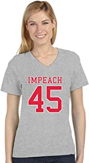 Impeach 45 Anti Trump USA 2020 Elections V-Neck Fitted Women T-Shirt