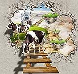 ZL Puzzle Jigsaw De 1000 Piezas Animales para Adultos Niños Juego De Descompresión De Madera Grandes Juegos De Puzzle Estéreo 3D Divertidos Difíciles para La Familia Jigsaw - Vaca