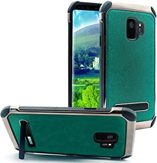 JITN Galaxy S9 Case with Heavy Duty Protection Kickstand Galaxy S9 Case with Shockproof Bling Glitter Hybrid Dual Layer Design Cover for Samsung Galaxy S9 5.8inch - Green