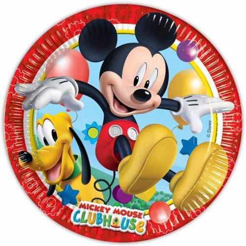Generique - 8 Assiettes en Carton Mickey Mouse 23 cm