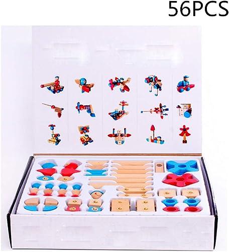 MCBQ Lernspielzeug Aus Holz Für Kinder Schnalle Splei  Und Drehbare Bausteine Multifunktion Intelligenz Entwickeln Umweltfreundliches Material Gehirn Spiel