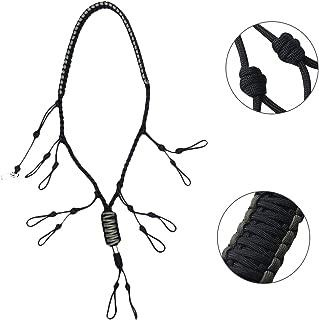 Soma Duck Call Lanyard Paracord Adjustable Loops for Goose Pheasant Waterfowl Predator Deer 5 Duck Calls 1 Hook 4 Colors