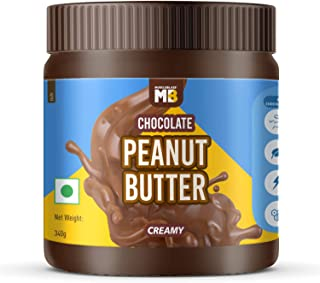 MuscleBlaze Chocolate Peanut Butter, Creamy, 340g, No Oil Separation