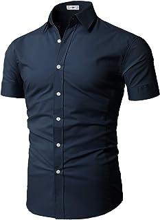 Mens Dress Shirts Slim Fit Short Sleeve Business Shirt Basic Designed Breathable