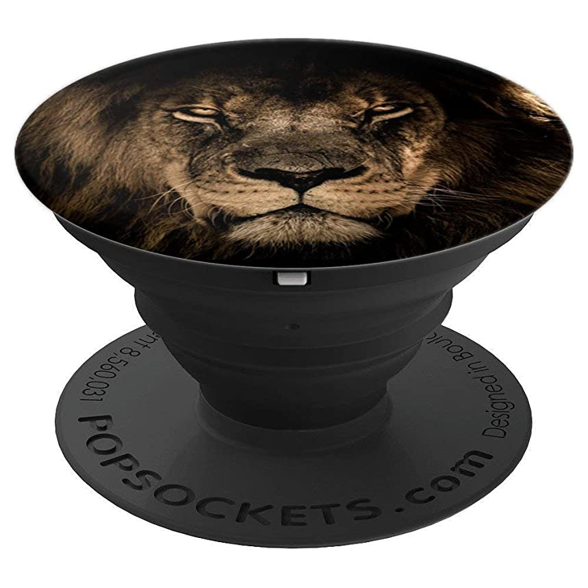 Wild Lion Graphic African Safari Cute Big Cat Animal Love - PopSockets Grip and Stand for Phones and Tablets