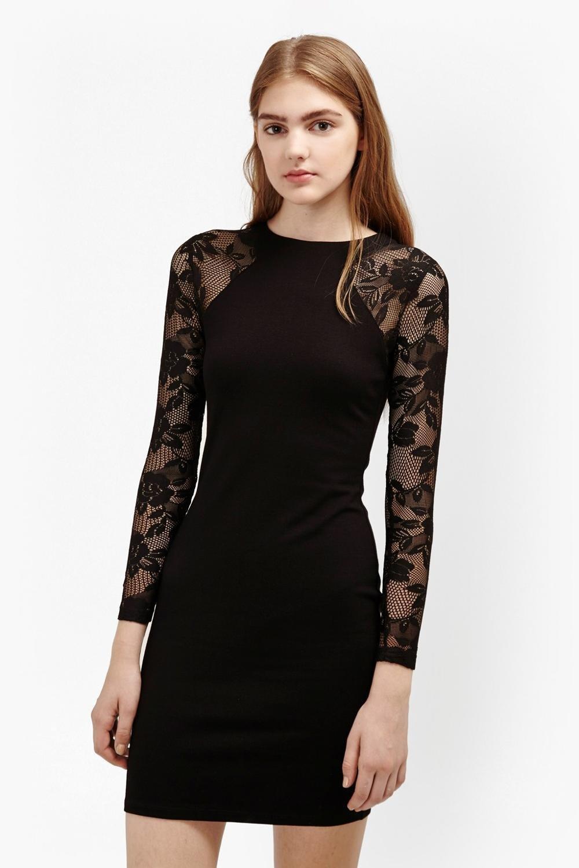 YELINGYUE Otoño Camisa De Encaje Negro Vendaje Oficina Mujer Vestidos Lápiz,Negro,XL: Amazon.es: Deportes y aire libre