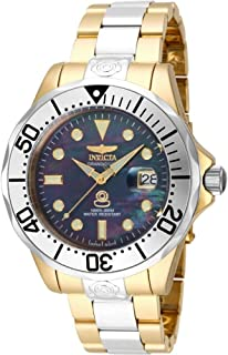 Men's Pro Analog Display Diver Automatic-self-Wind Diving Watch with Stainless-Steel Strap