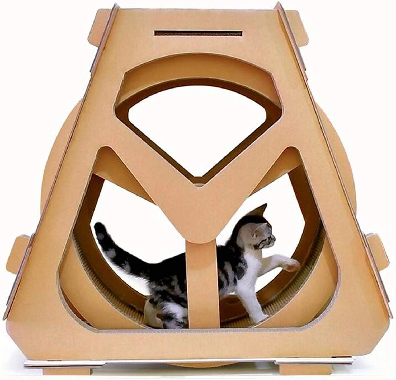 Ferris Wheel Cat Scratch Board Corrugated Paper Cat Climbing Frame Cat Litter redating Creative Cat Scratch Board,Large