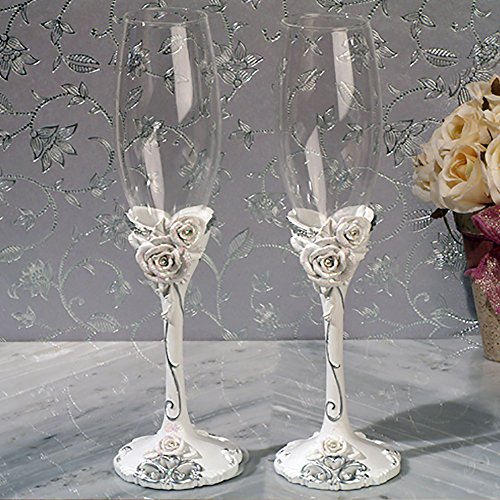 Elegant Rose Collection Flutes Set