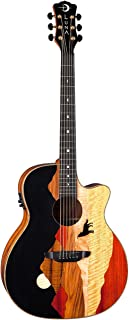 Luna VISTAWOLF Grand Auditorium Acoustic-Electric Guitar, Ebony Fretboard
