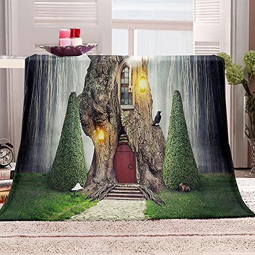 Ejiawj Mantas para Sofa Baratas Casa del árbol de la Selva 150x200...
