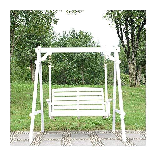 DGHJK Patio-Schaukelstuhl im Freien, White Porch Glider-Schaukelstuhl Schaukelstuhl im Freien Perfektes Set für Patio, Garten, Veranda und Pool