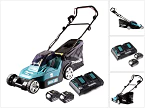 Makita DLM382PM2 Twin 18V (36V) Li-ion LXT 38cm Lawn Mower Complete with 2 x 4.0 Ah Batteries and Twin Port Charger