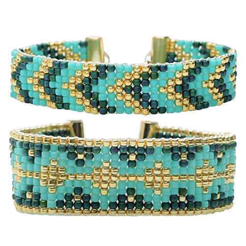 beadaholique fabric glues Beadaholique Loom Bracelet Duo - Hemingway Teal - Exclusive Jewelry Kit