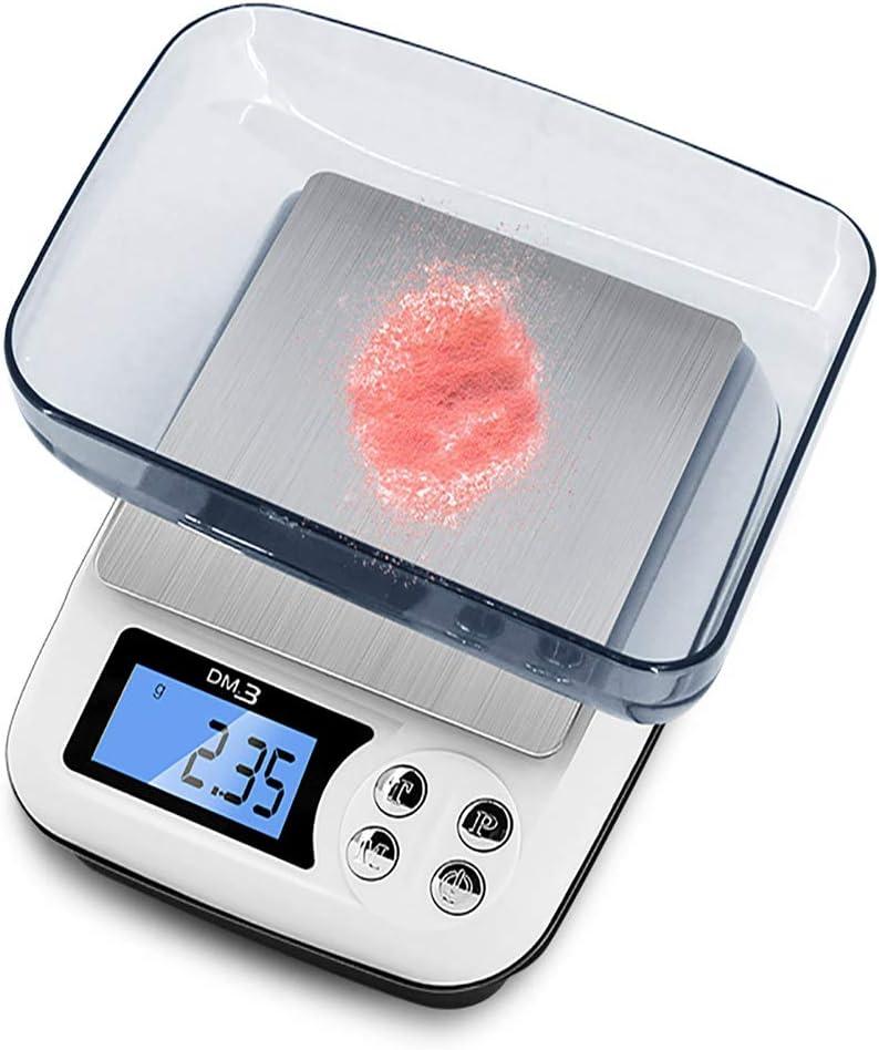 ZOOTUI Mini Báscula de Precisión Digitale para Joyería Balanza de Bolsilla Electrónica para Gramos 200g/0,01g con Función de Tara y Calibración, Balanza de Cocina Pequeñas para Comida