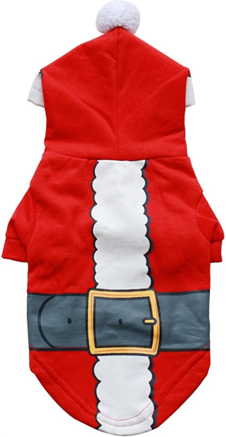 GINBL Pet Christmas Day Costumes for Small Dogs Shirt Comfort Puppy Winter Hoodies