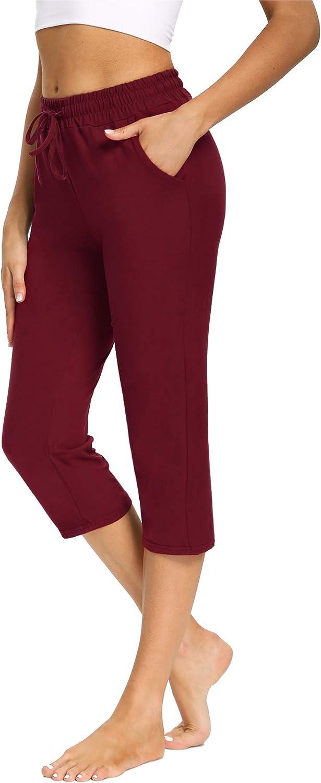 PACBREEZE Women's Capri Yoga Pants Minneapolis Mall Beauty products Work Lounge Drawstring Pajama