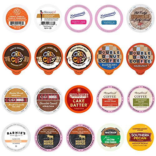 Perfect Samplers 20Count Flavored Coffee Variety Sampler, Single-Serve Coffee for Keurig K Cup Brewers, Flavored Coffee, 20Count