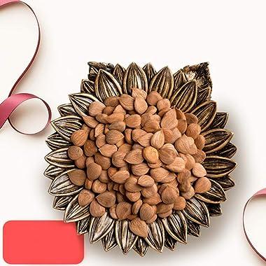 Garneck Decorative Platter, Dried Fruit Plate Serving Tray, Snack Plate Storage Plate, Resin Simulation Plants Nut Dish Stora