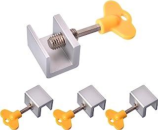 Best Maxdot 4 Sets Sliding Window Locks Stop Aluminum Alloy Door Frame Security Lock with Keys (4 Sets) Review