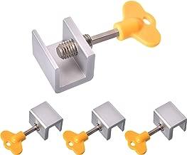 Maxdot 12 Sets Sliding Window Locks Stop Aluminum Alloy Door Frame Security Lock with Keys (12 Sets)