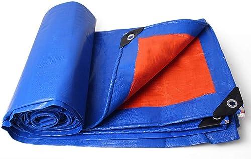 RGZJ Couvrant La Pluie épaissir Isolation étanche à La Pluie étanche Crème Solaire Auvent Bleu Orange Camion Bache (Taille   3x6m)