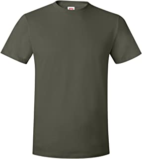 Hanes Mens Ringspun Cotton Crewneck Nano-T T-Shirt