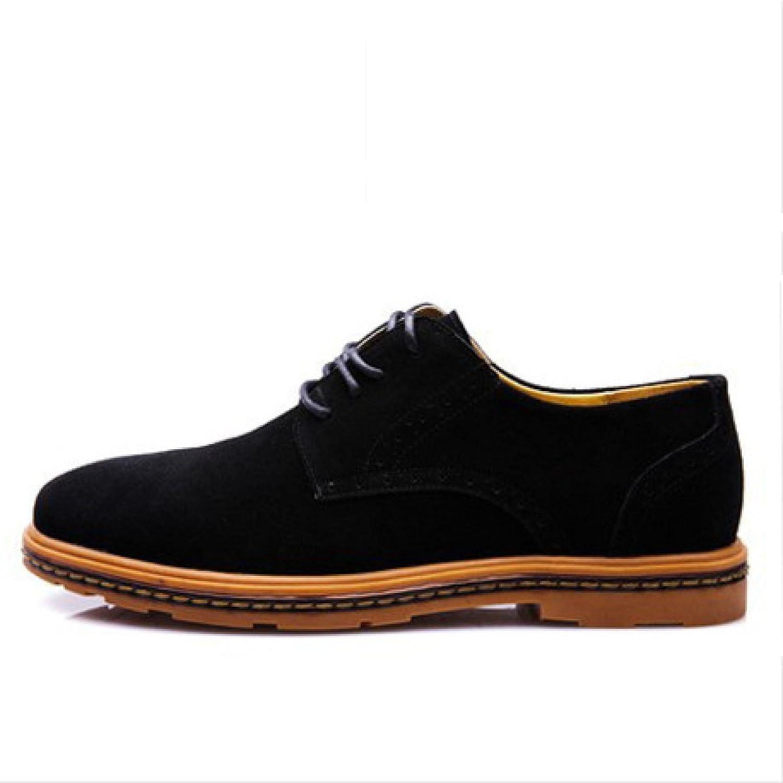 Nobles Men Tide shoes Suede shoes Popular Low To Help Mesh Lace Breathable Korean Single shoes