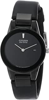 Citizen Women's Eco-Drive Black Ion-Plated Axiom Strap Watch