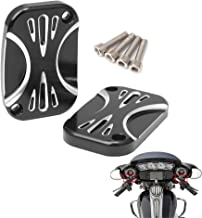 Kuryakyn 6535 Motorcycle Accent Accessory Satin Black Mesh Brake Master Cylinder Cover for 2005-18 Harley-Davidson Motorcycles