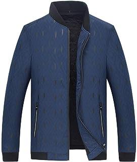 Cappotto Floreale con Collo Alto di Moda di Spessore Abbigliamento Maschile Vintage Colletto Caldo Outwear Cappotto Giacch...