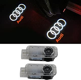 Klinee Easy Installation Car Door LED Logo Projector Ghost Shadow Lights Symbol Emblem Courtesy Step Lights for Audi
