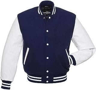navy letterman jacket