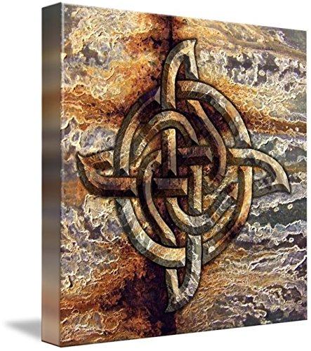 Wall Art Print entitled Celtic Rock Knot by Kristen Fox