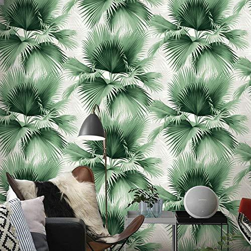 Behang blauw palmbladeren tropisch groen achtergrond folie rol natuur jongen muur papier slaapkamer achtergrond woonkamer 10mx53cm M00501