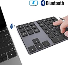 Wireless Numeric Keypad, JOYEKY Aluminum Bluetooth Number Pad 34-Keys External Number..