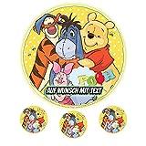 Tortenaufleger Geburtstag Tortenbild Zuckerbild Oblate Motiv: Disney Winnie Pooh 02 (Zuckerpapier)