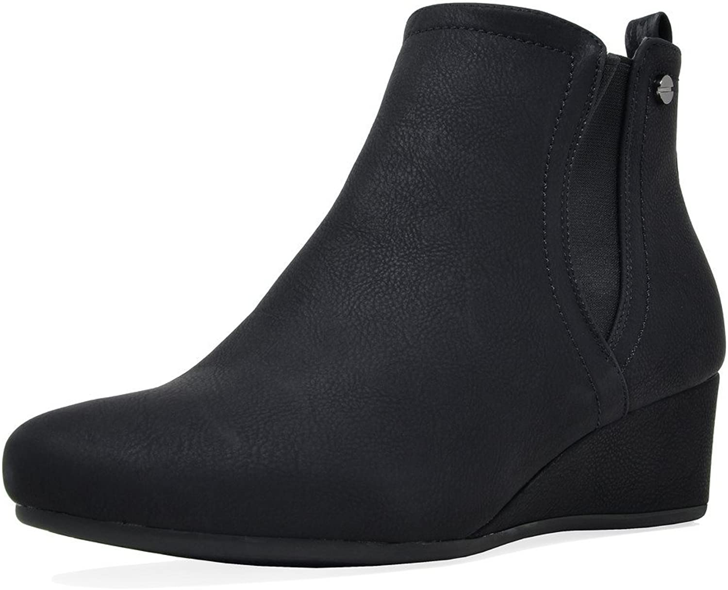 DREAM PAIRS Women's New-Zoie Low Wedge Ankle Boots