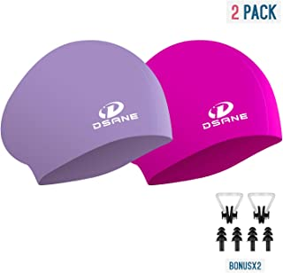 Womens Silicone Swim Cap for Long Hair,3D Ergonomic...
