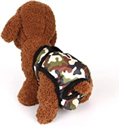 Liobaba Dog Diaper Female Male Durable Doggie Diapers Pants Dog Wrap Panty Pet Underwear Briefs Shorts Sanitary Physiological Pants