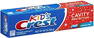 Crest Toothpaste Kids` Cavity Protection, Sparkle Fun Flavor 4.60 oz (Pack of 4)