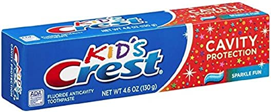 Crest Toothpaste Kids' Cavity Protection, Sparkle Fun Flavor 4.60 oz (Pack of 4)
