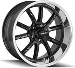 RIDLER 650 Wheel with MATTE BLACK/POLISHED LIP (17 x 8. inches /5 x 120 mm, 0 mm Offset
