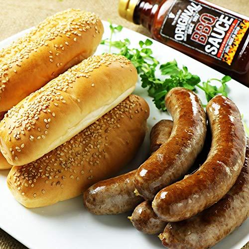 ミートガイ ホットドックお試しセット (オリジナル生ソーセージ&BBQソース&バンズ) Hotdog Taster Set (Spicy Sausage With BBQ Sauce And Buns)