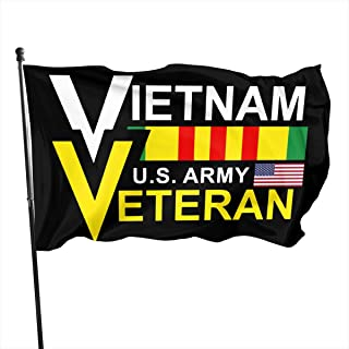 BQCHMBO 3 X 5 FT Flag,Vietnam US Army Veteran Party Flag,Home Flag,Garden Flag, for Outdoor,Indoor,Wall